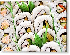 Sushi Platter Acrylic Print by Elena Elisseeva