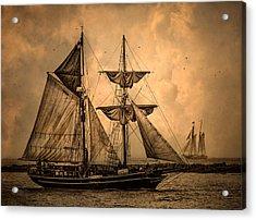 Tall Ships Acrylic Print by Dale Kincaid