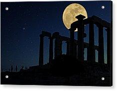 Temple Of Poseidon  Acrylic Print by Emmanuel Panagiotakis