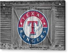 Texas Rangers Acrylic Print by Joe Hamilton