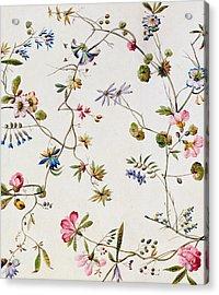 Textile Design Acrylic Print by William Kilburn