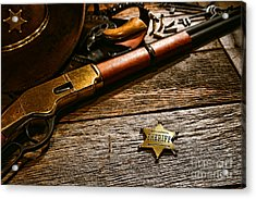 The Badge Acrylic Print by Olivier Le Queinec