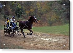 The Race Is On Acrylic Print by Skip Willits