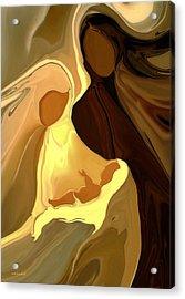 The Saviour Is Born Acrylic Print by Valerie Anne Kelly