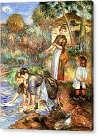 The Washerwoman Acrylic Print by Pierre Auguste Renoir