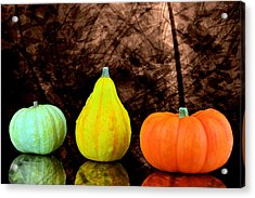 Three Small Pumpkins  Acrylic Print by Toppart Sweden