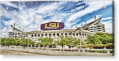 Tiger Stadium Panorama Acrylic Print by Scott Pellegrin