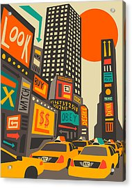 Time Square Acrylic Print by Jazzberry Blue
