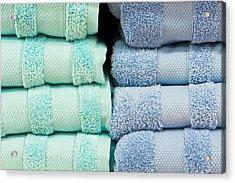 Towels Acrylic Print by Tom Gowanlock