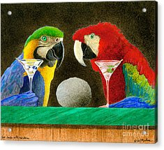 Two Birds With One Stone... Acrylic Print by Will Bullas
