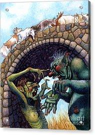 2 Ugly Trolls Acrylic Print by Isabella Kung