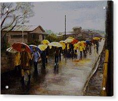 Umbrellas - Japan Acrylic Print by Chisho Maas
