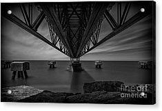 Under The Pier Acrylic Print by James Dean