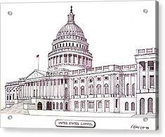 United States Capitol Acrylic Print by Frederic Kohli