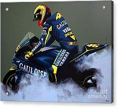 Valentino Rossi Acrylic Print by Paul Meijering