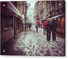 Acrylic Print featuring the photograph Venice In White by Thierry Bouriat