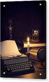 Vintage Typewriter Acrylic Print by Amanda And Christopher Elwell