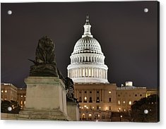 Washington Dc - Us Capitol - 01131 Acrylic Print by DC Photographer