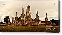 Wat Chaiwatthanaram Ayutthaya  Thailand Acrylic Print by Fototrav Print