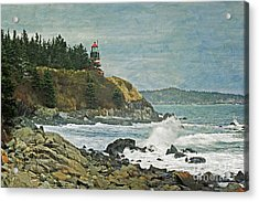 West Quoddy Head Lighthouse Acrylic Print by Cindi Ressler