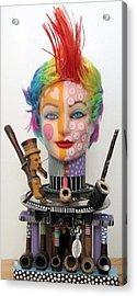 What The Hell Was She Smoking Acrylic Print by Keri Joy Colestock