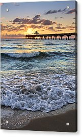Whipped Cream Acrylic Print by Debra and Dave Vanderlaan