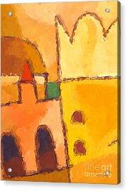 Yellow Impression Acrylic Print by Lutz Baar