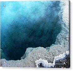 Yellowstone Blue Acrylic Print by Patricia Januszkiewicz
