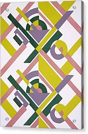 Design From Nouvelles Compositions Decoratives Acrylic Print by Serge Gladky