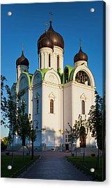 Russia, Saint Petersburg Acrylic Print by Walter Bibikow