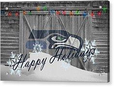 Seattle Seahawks Acrylic Print by Joe Hamilton
