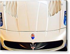 2005 Maserati Mc12 Hood Emblem Acrylic Print by Jill Reger