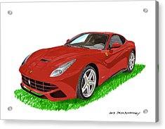 2012 F12 Ferrari Berlinetta Gt Acrylic Print by Jack Pumphrey