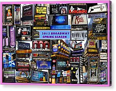 2013 Broadway Spring Collage Acrylic Print by Steven Spak