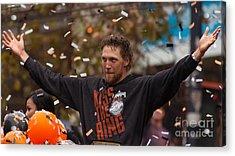 2014 World Series Champions San Francisco Giants Dynasty Parade Sergio Romo 5d29766 Acrylic Print by Wingsdomain Art and Photography