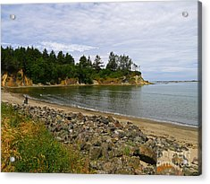 Sunset Bay State Park Acrylic Print by Gail Peters
