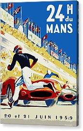 24 Hour Le Mans 1959 Acrylic Print by Mark Rogan