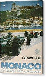 24th Monaco Grand Prix 1966 Acrylic Print by Georgia Fowler