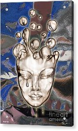 24x36 Misery 220 Acrylic Print by Dia T