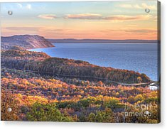Fall In Sleeping Bear Dunes Acrylic Print by Twenty Two North Photography