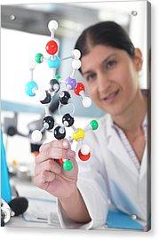 Molecular Model Acrylic Print by Tek Image