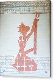 The Wise Virgin Acrylic Print by Gloria Ssali