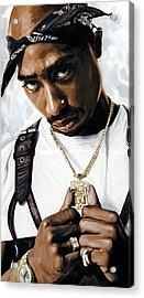 2pac Tupac Shakur Artwork  Acrylic Print by Sheraz A