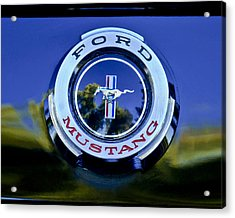 1965 Shelby Prototype Ford Mustang Emblem Acrylic Print by Jill Reger