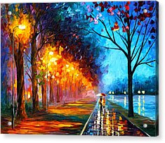 Alley By The Lake Acrylic Print by Leonid Afremov