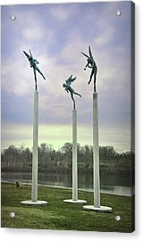 3 Angels Statue Philadelphia Acrylic Print by Bill Cannon