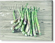 Asparagus Acrylic Print by Tom Gowanlock