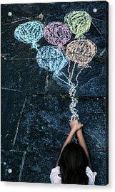 Balloons Acrylic Print by Joana Kruse