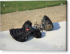 Baseball Glove And Chest Protector Acrylic Print by Frank Romeo