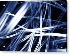 Blue Lines  Acrylic Print by Les Cunliffe